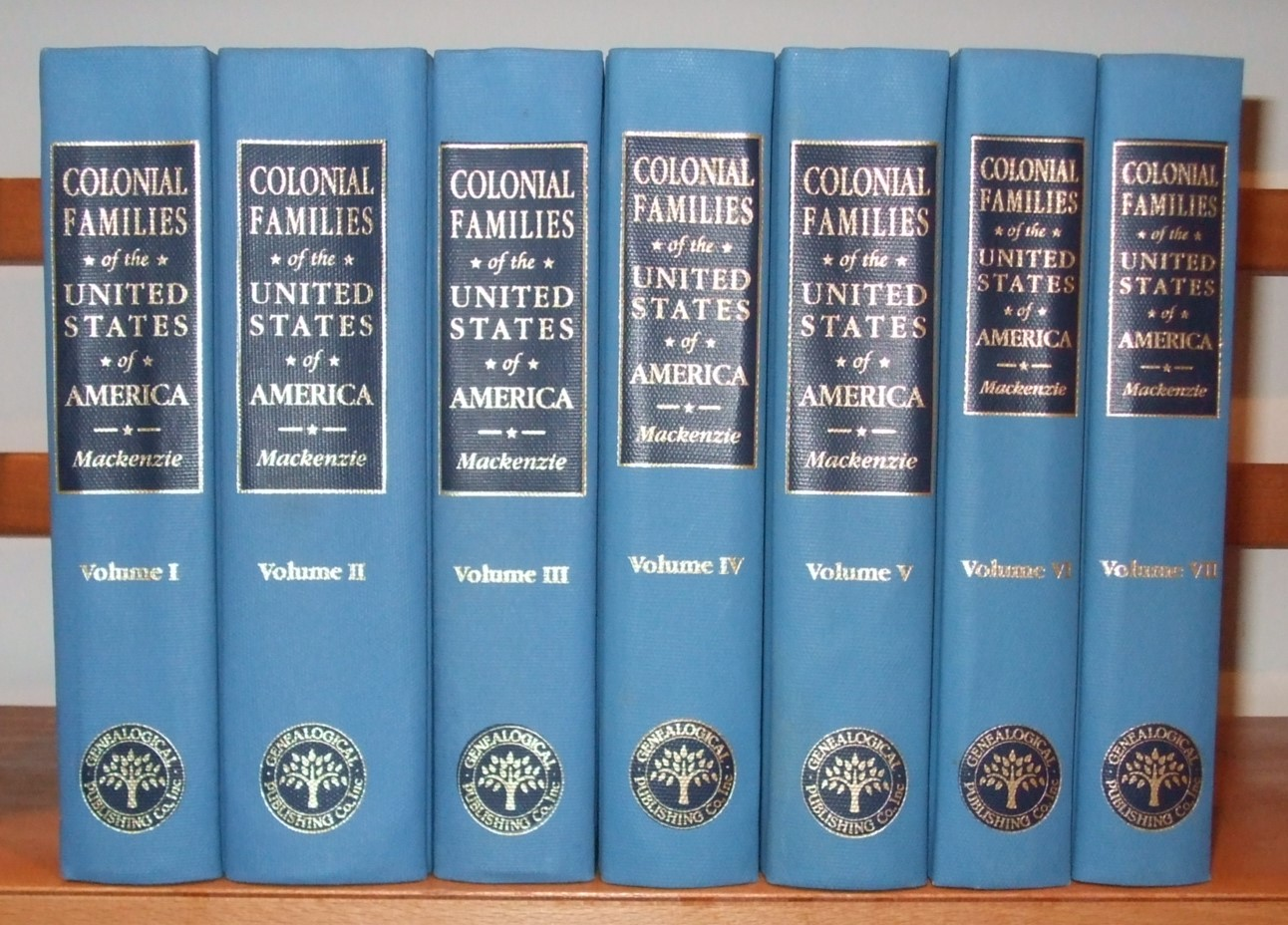 Image for Colonial Families of the United States of America [ Complete in 7 Volumes ]