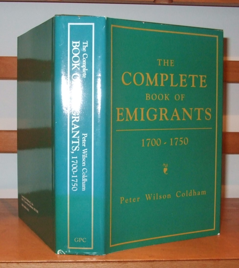 Image for Complete Book of Emigrants, 1700-1750: