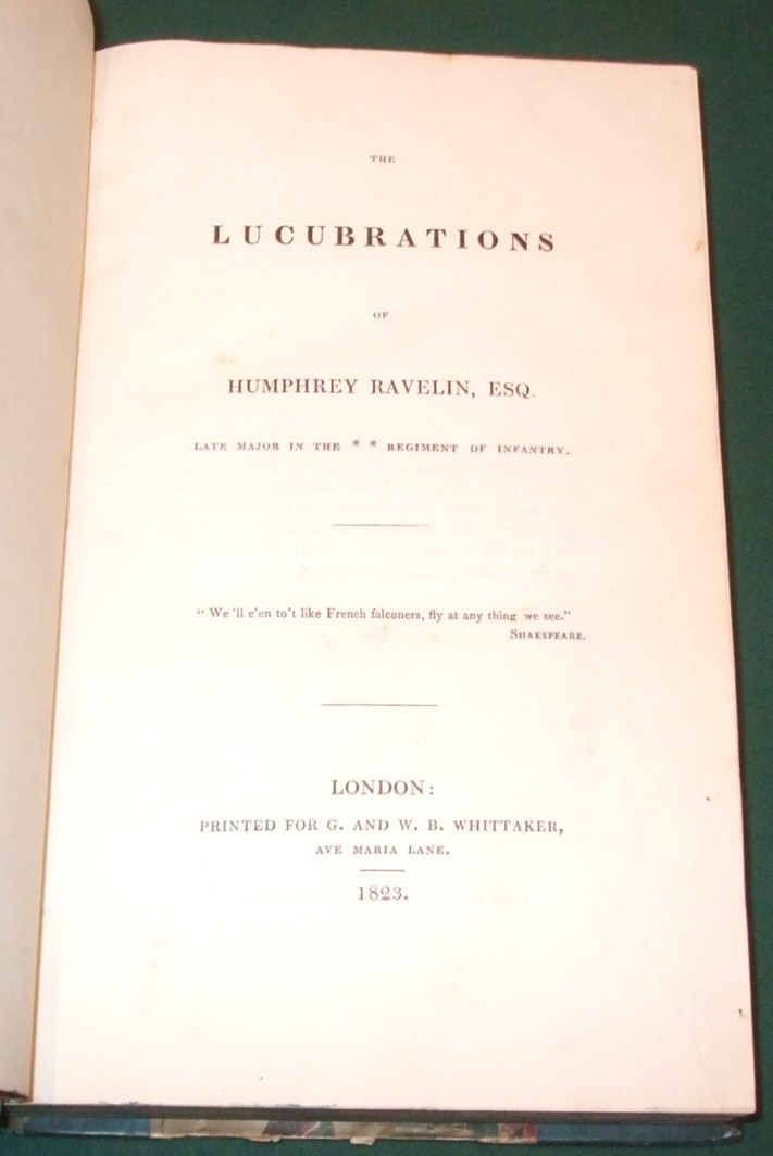 Image for The Lucubrations of Humphrey Ravelin