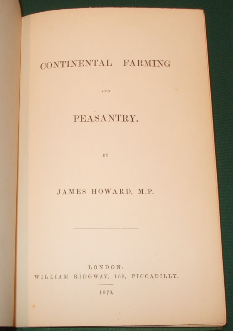 Image for Continental Farming and Peasantry