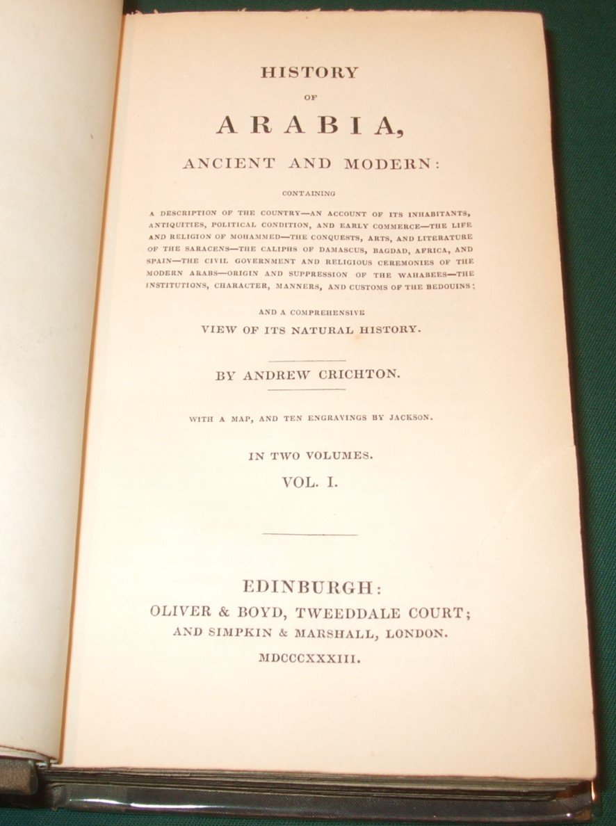 Image for History of Arabia Ancient and Modern [ Complete in 2 Volumes ] [ Bookplate of Peake Pasha ]