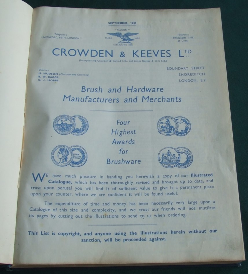 Image for Crowden & Keeves Ltd Brush and Hardware Manufacturers and Merchants