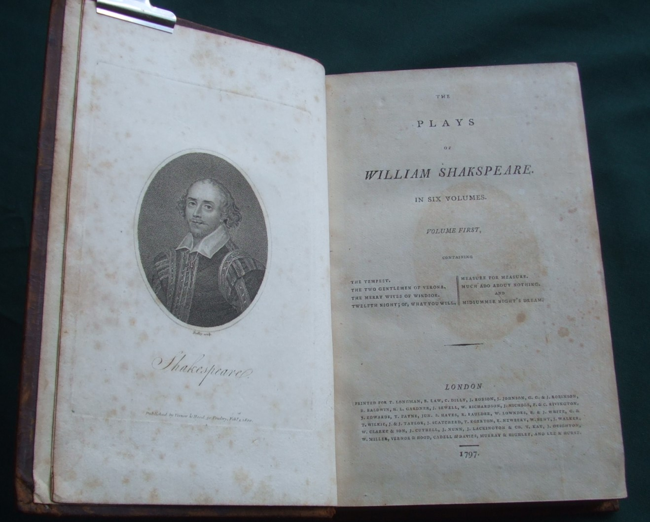 Image for The Plays of William Shakspeare [ Complete in 6 Volumes ]