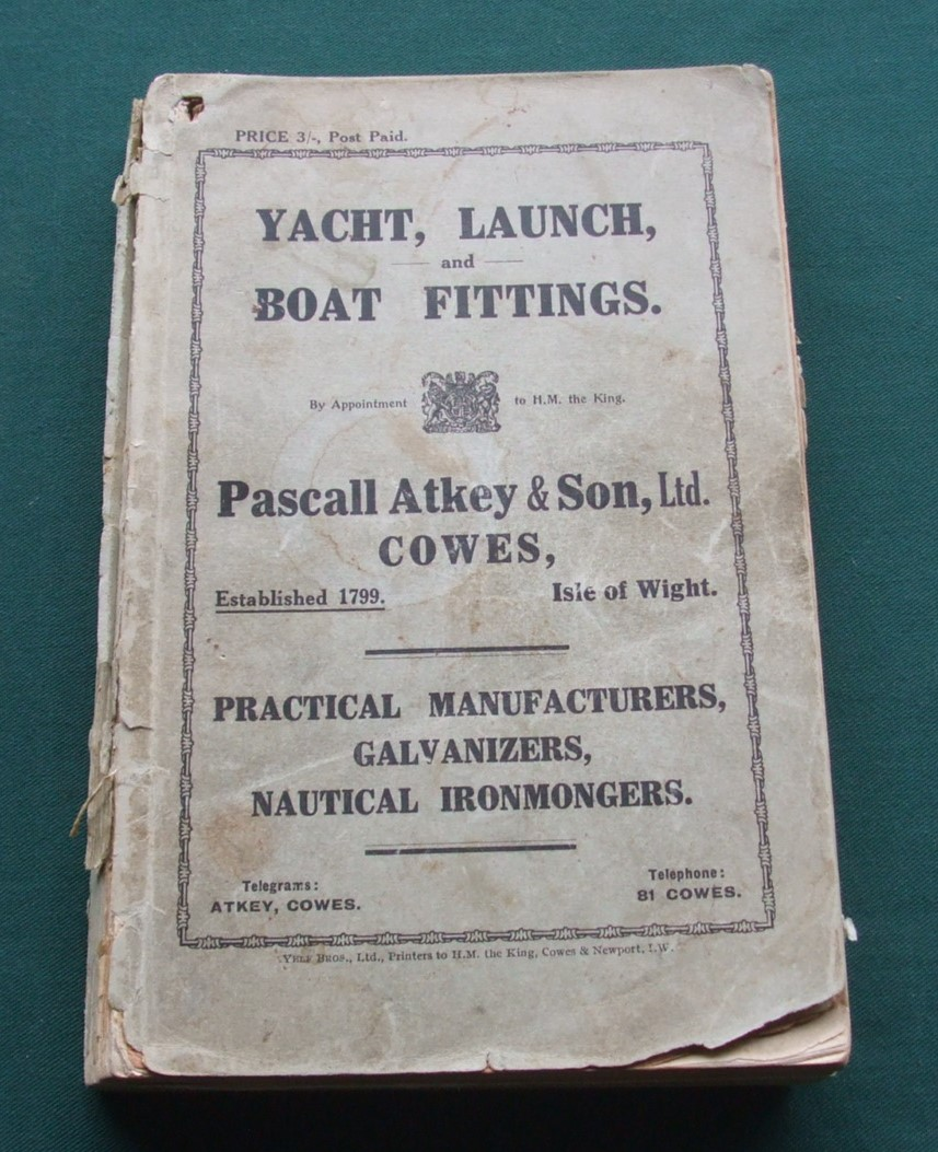 Image for Yacht, Launch, and Boat Fittings. Pascall Atkey & Son, Ltd. Cowes, Catalogue.