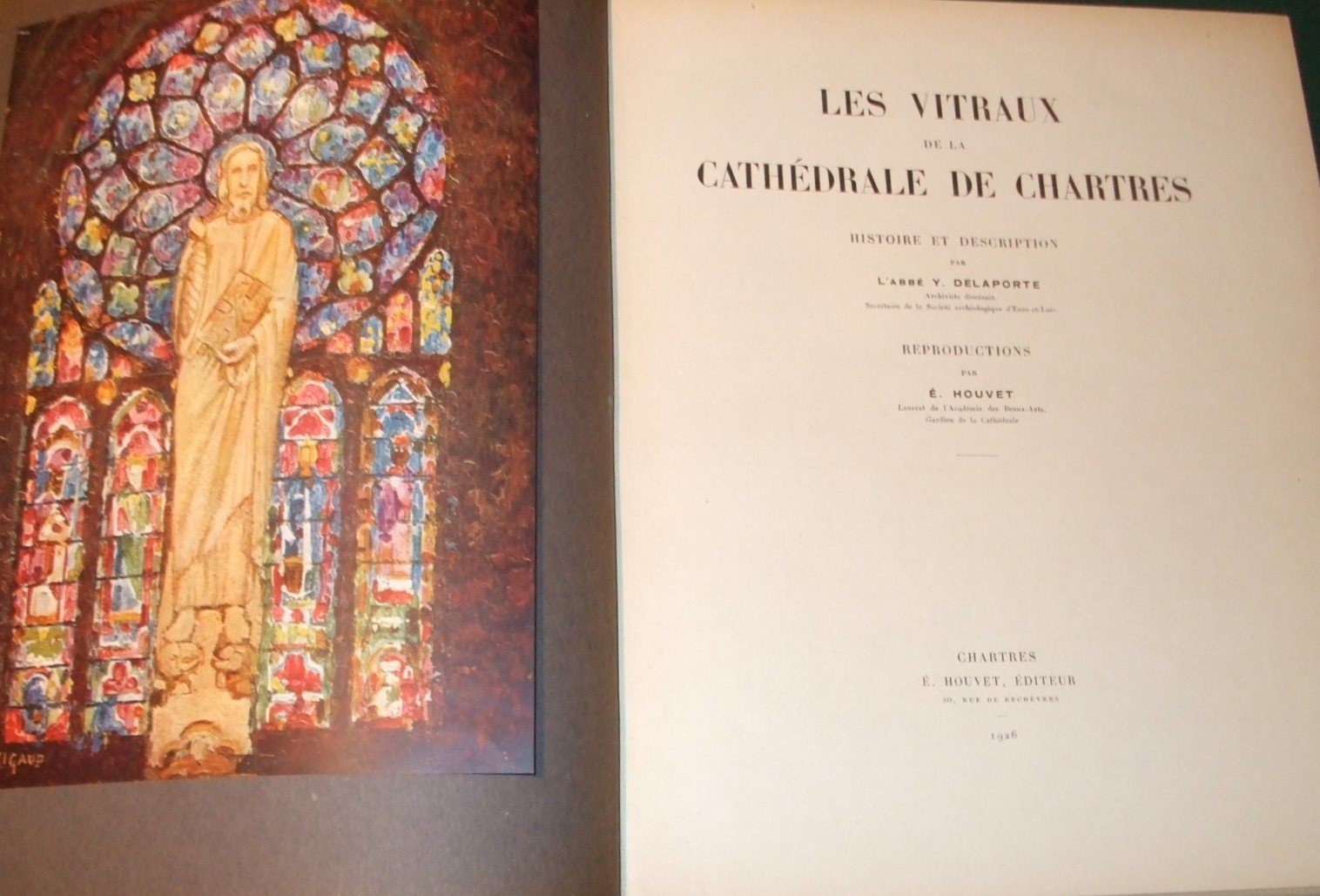 Image for Les Vitraux De La Cathedrale De Chartres Histoire et Description  [ Complete in 4 Volumes ]