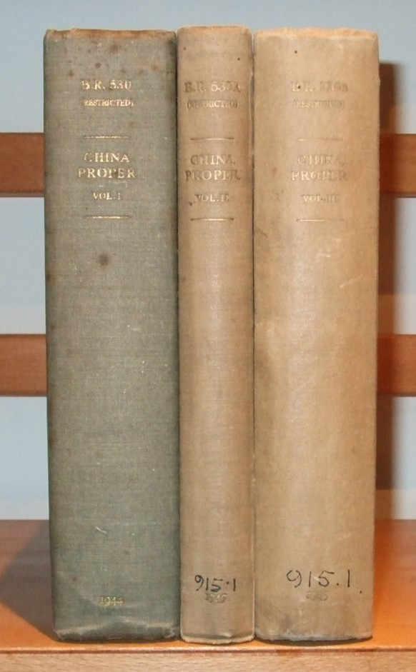 Image for China Proper [ 3 Volumes ]. [ Volume 1. Physical Geography, History and Peoples. 2. Modern History and Administration. 3. Economic Geography, Ports and Communications. ]